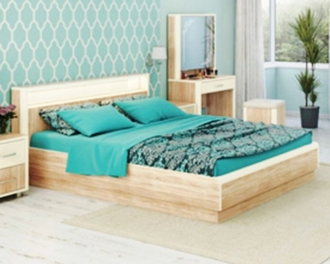 Кровать ОЛИМПИЯ-1800 с подсветкой и подъемным механизмом