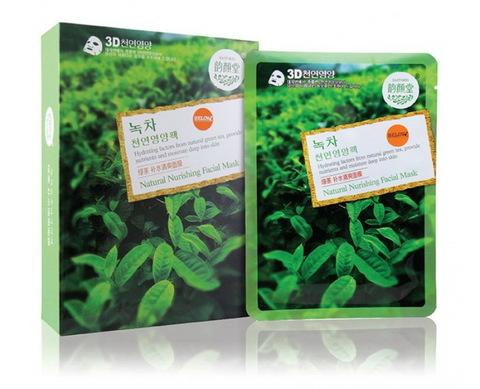 Тканевая маска для лица с зеленым чаем (Корея)