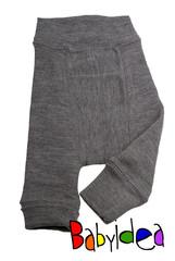 Пеленальные штанишки  длинные Babyidea Wool Longies, Серый меланж (шерсть мериноса 100%)