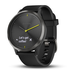 Умные часы Garmin Vívomove HR Sport черные с черным большим ремешком 010-01850-21