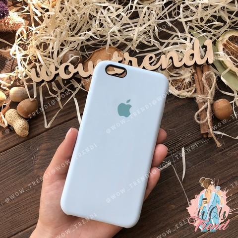 Чехол iPhone 6+/6s+ Silicone Case /sky blue/ светло-голубой 1:1
