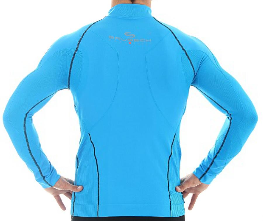 Мужская толстовка Brubeck Windproof Zip Top (LS11060) голубая фото