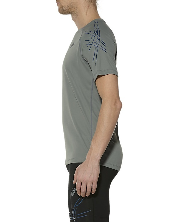 Мужская спортивная футболка для бега Asics Stripe SS (126236 0773) серая