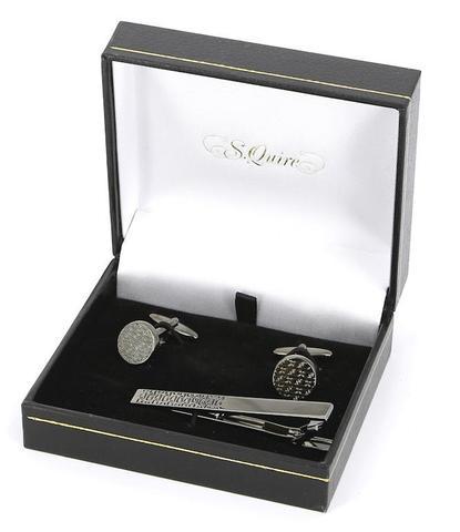 Подарочный набор запонки и заколка для галстука S.Quire EG-17344