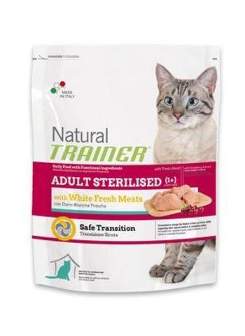 Trainer Сухой Корм Natural Adult Sterilised для взрослых кастрированных кошек со свежим белым мясом 1,5 кг.