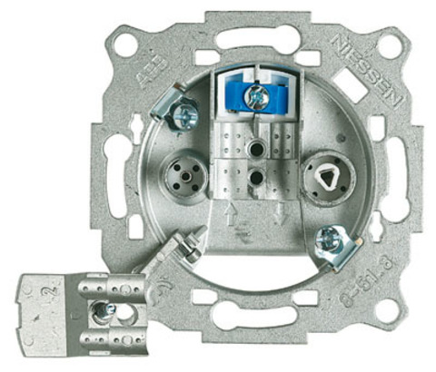 Розетка TV-R, с фильтром, одиночная. ABB (АББ). 8150.3