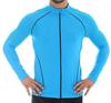 Мужская беговая толстовка Brubeck Windproof Zip Top (LS11060) голубая