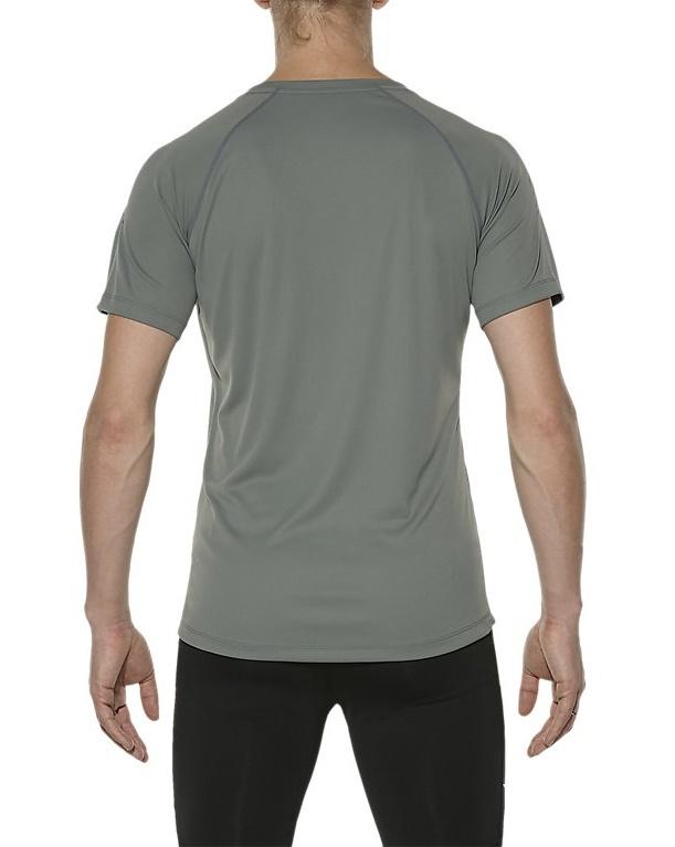 Мужская спортивная беговая футболка Asics Stripe SS Top (126236 0773) - фото,