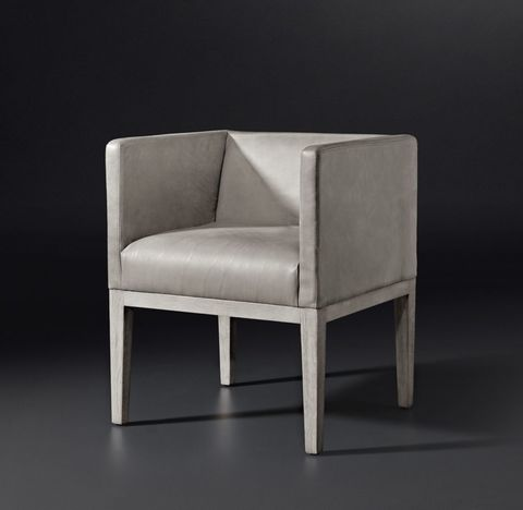 Morgan Shelter Arm Leather Armchair