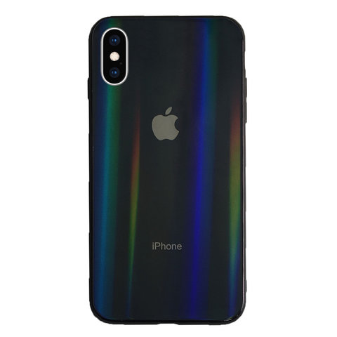Чехол iPhone X/XS Glass polaris Case Logo /black/