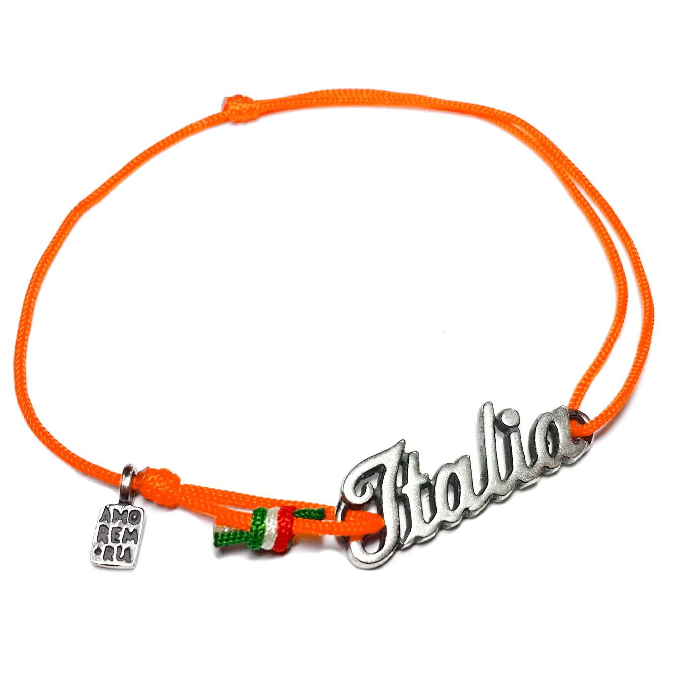 Italy Bracelet, sterling silver charm