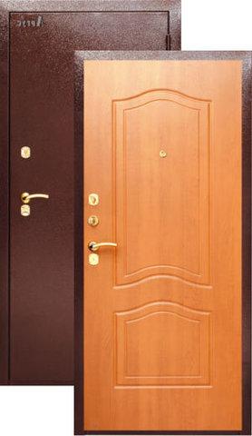 Дверь входная Аргус ДА-2, 2 замка, 2 мм  металл, (медь антик+клён медовый)