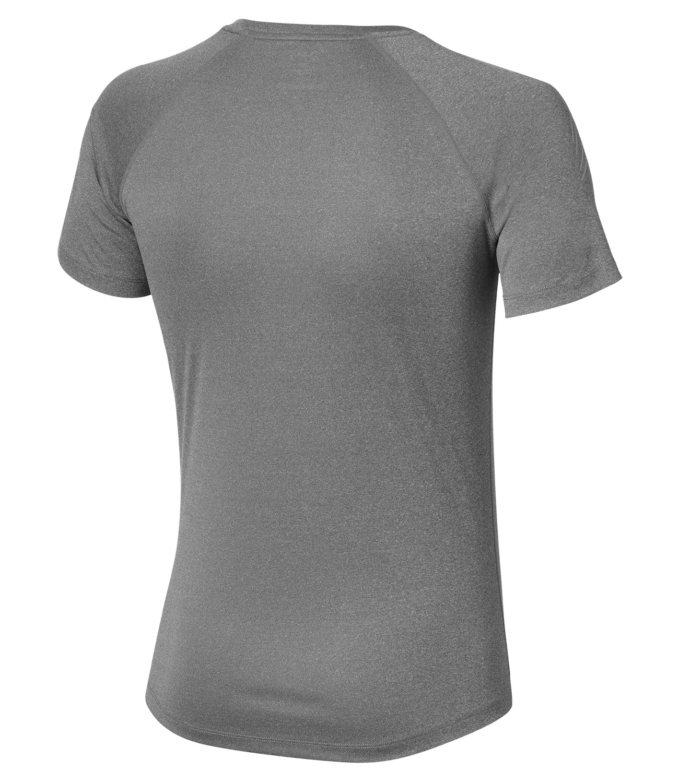 Мужская спортивная футболка для бега асикс Stripe SS (126236 0773) серая