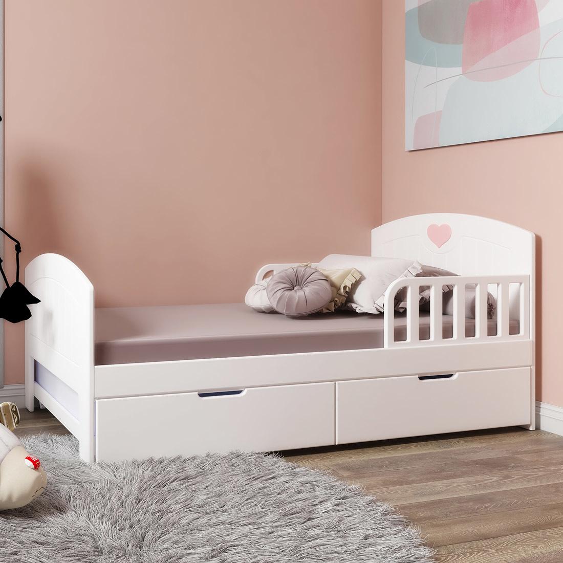 Кровать с ящиками Мечта Белая
