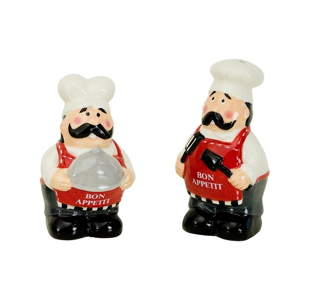 Емкости для хранения продуктов Набор солонка и перечница Boston Warehouse Chef 62058.jpg