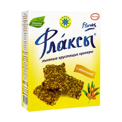 Флаксы льняные крекеры с облепихой, 150 гр. (Компас Здоровья)