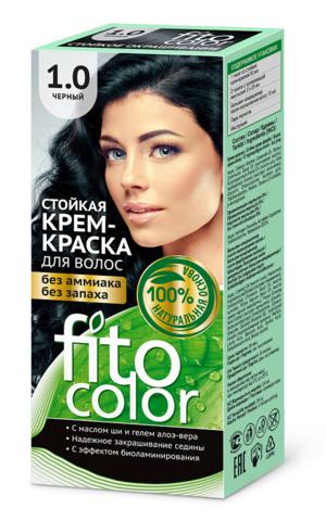 Фитокосметик Fito Color Стойкая крем-краска для волос тон Черный 115мл