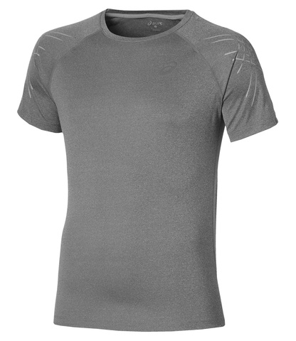 ASICS STRIPE SS TOP мужская спортивная футболка серая