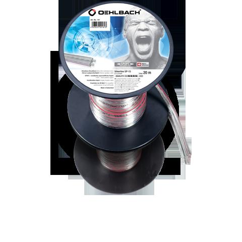 Oehlbach Silver SP15 2x1,5mm clear 20m, кабель акустический