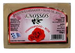Натуральное оливковое мыло с розой Knossos 100 гр