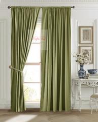 Длинные шторы, Ницца (оливковый)