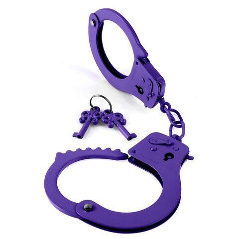 Металлические наручники Designer Cuffs - Purple