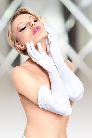 Перчатки длинные SoftLine Collection, белый, S/L фото