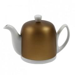 Чайник заварочный на 4 чашки 0.7л Guy Degrenne Salam White бронзовый