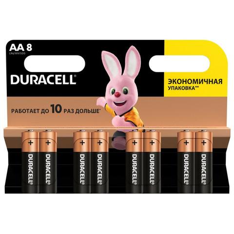 Батарейки DURACELL АА/LR6-8BL BASIC бл/8