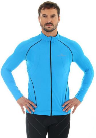 Brubeck Windproof Zip Top толстовка для бега мужская с ветрозащитной мембраной