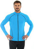 Мужская толстовка для бега Brubeck Windproof Zip Top (LS11060) голубая