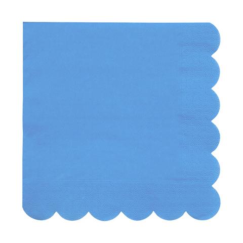 Салфетки большие, голубые