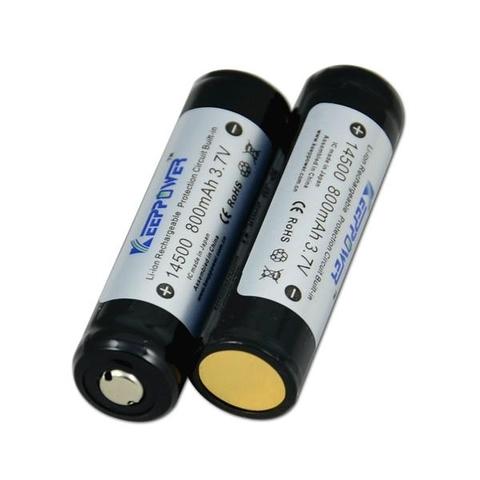 Аккумуляторы 14500 KeepPower 800mAh с защитой (Li-ion)