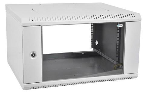 Шкаф ЦМО ШРН-Э-9.350 телекоммуникационный настенный разборный 9U (600 × 350) дверь стекло