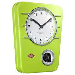 Часы настенные Wesco Classic Line зеленые