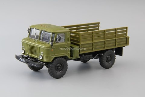 GAZ-66-40 flatbed truck khaki 1:43 DeAgostini Auto Legends USSR Trucks #40