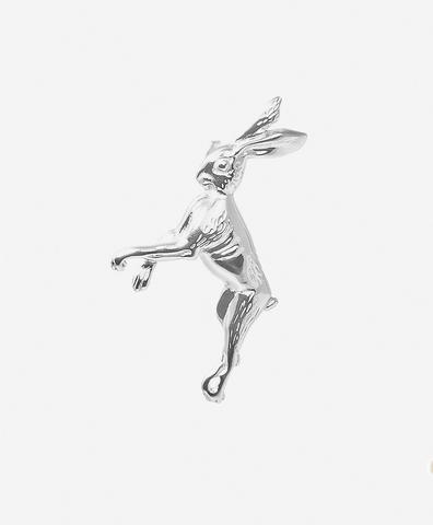 Серебряная моносерьга заяц