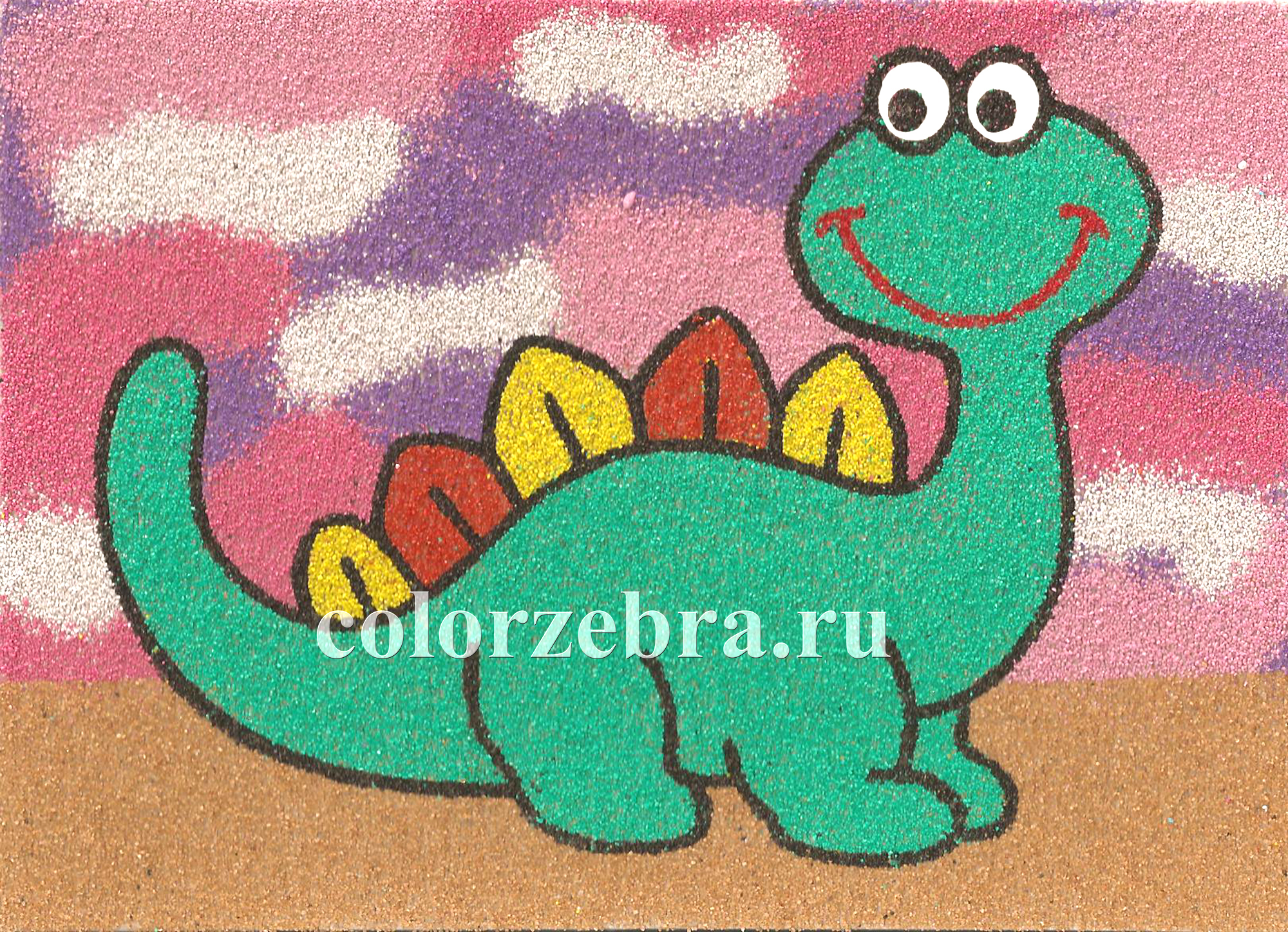 Трафарет для песочной картины Динозавр А4