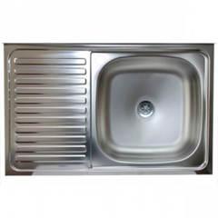 Мойка КромРус S-216 для кухни из нержавеющей стали, левая