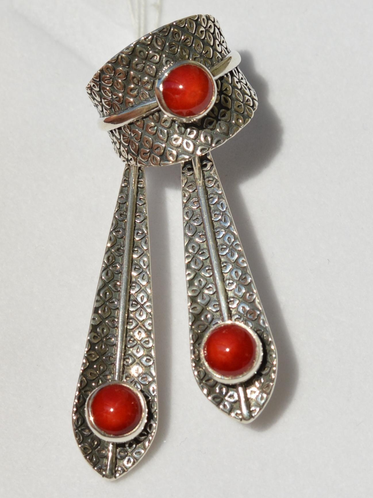 Фиби (кольцо + серьги из серебра)