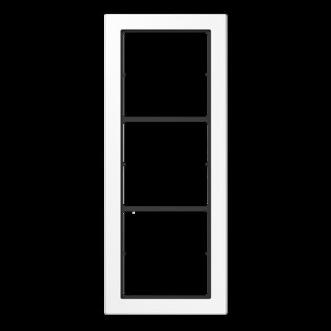 Рамка на 3 поста. Цвет Белый. JUNG FD - ДИЗАЙН. FD983WW