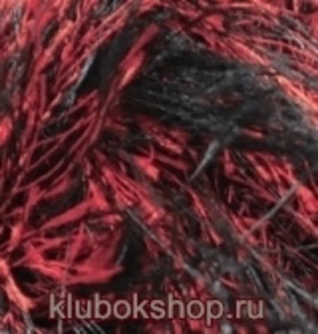 Пряжа Decofur (Alize) 1381 Черный красный, фото