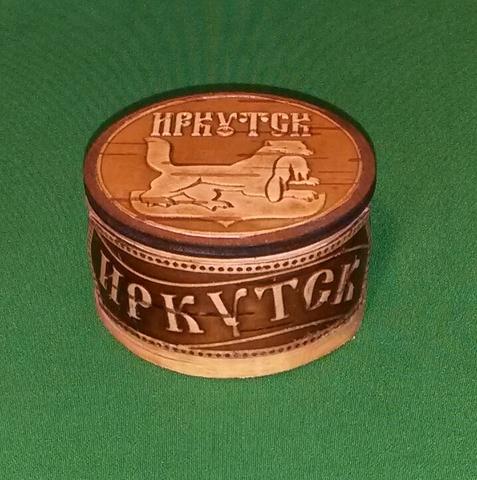 Шкатулка Иркутск круг