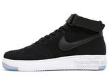 Кроссовки Мужские Nike Air Force 1 Mid Flyknite  Black White