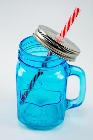 Баночка для смузи и коктейлей, голубая