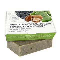 Крымское натуральное мыло с грязью Сакского озера BEAUTY-КОМПЛЕКС, ежедневный уход, 100г