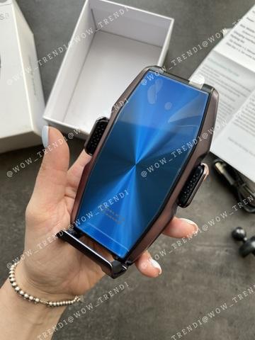 Автомобильный держатель с беспроводной зарядкой S9 original Fast /blue/