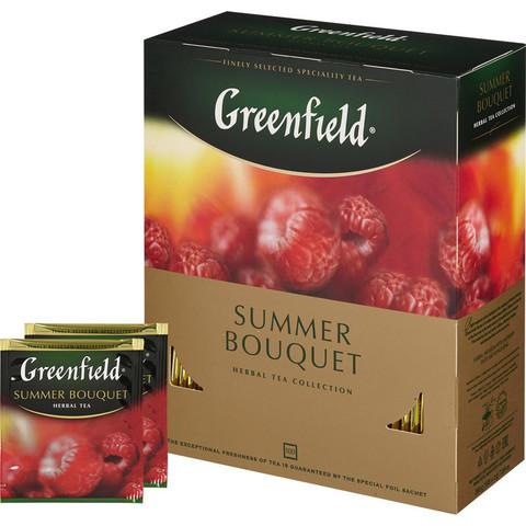 Чай Greenfield Summer Bouquet фруктов.фольгир. 100 пак/уп
