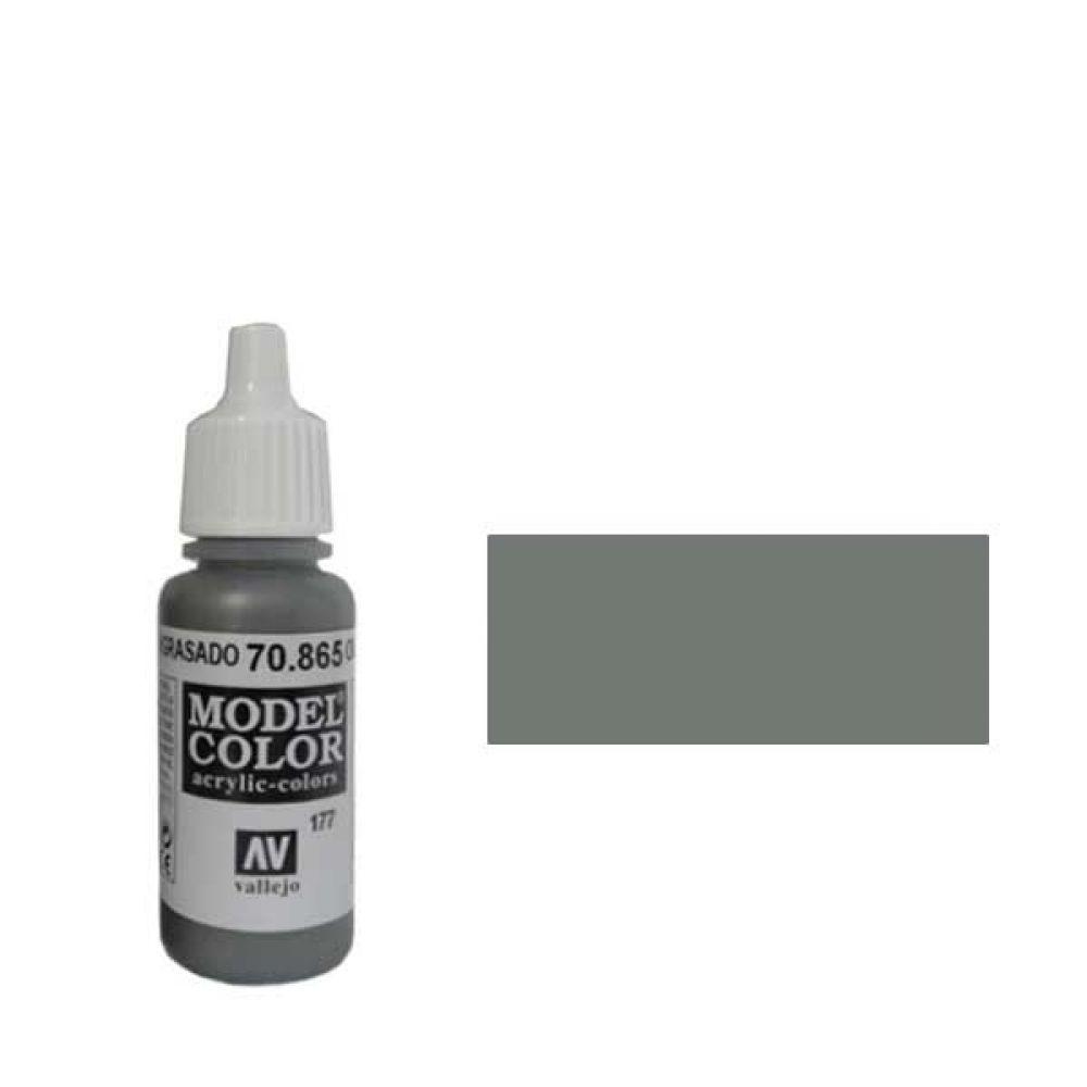 177. Краска Model Color Замаслення Сталь 865 (Oily Steel) металлик, 17мл