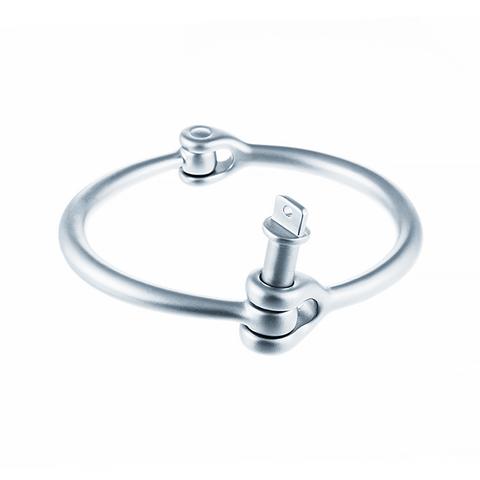 Стильный необычный жесткий стальной браслет JV 268-0028 в подарочной упаковке